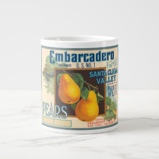 Embarcadero Brand Vintage Crate Label Giant Coffee Mug