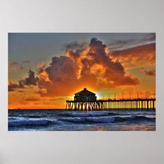 Embarcadero California de Huntington Beach Poster