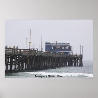 Embarcadero California de la playa de Newport Poster