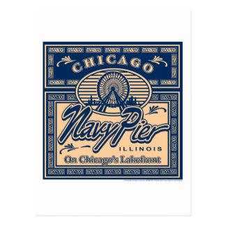 Embarcadero Chicago de la marina de guerra Postales