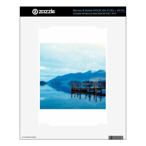 Embarcadero Cumbria de Derwent del lago water Calcomanía Para NOOK