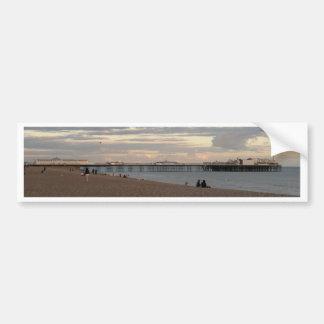 Embarcadero de Brighton Pegatina De Parachoque