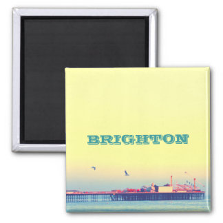 Embarcadero de Brighton, Reino Unido Imán Cuadrado