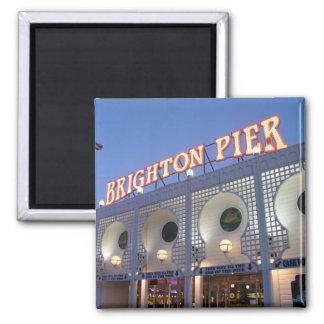 Embarcadero de Brighton, Sussex, Reino Unido Imán Cuadrado