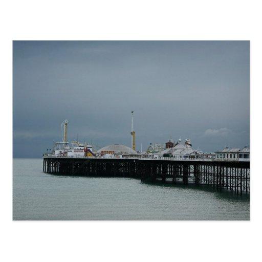 embarcadero de Brighton Tarjeta Postal