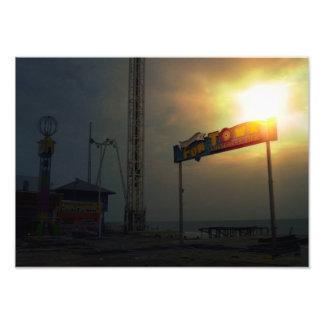 Embarcadero de Funtown la consecuencia-Playa NJ Fotos