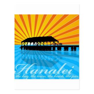 Embarcadero de Hanalei Postal