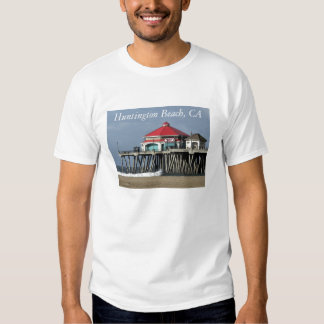 Embarcadero de Huntington Beach - camiseta de la Poleras