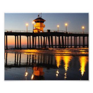 Embarcadero de Huntington Beach de la salida del s Fotografía