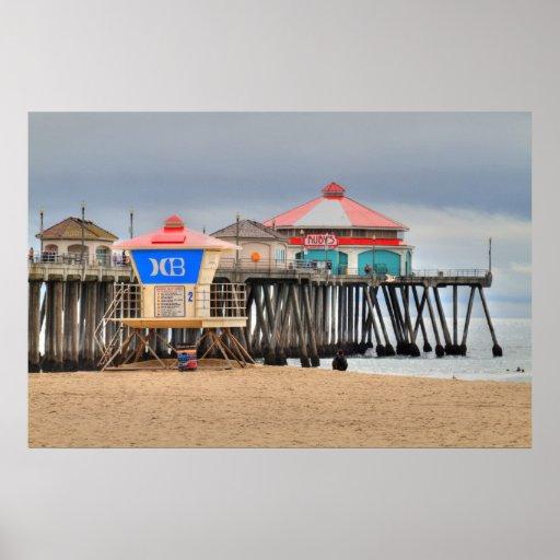 Embarcadero de Huntington Beach Póster