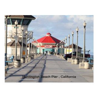 Embarcadero de Huntington Beach Tarjetas Postales
