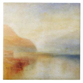 Embarcadero de Inverary, lago Fyne, mañana, c.1840 Azulejo Cuadrado Grande