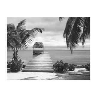 Embarcadero de la isla impresion en lona