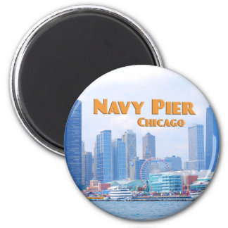 Embarcadero de la marina de guerra - Chicago Illin Imán De Nevera