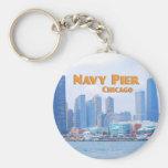 Embarcadero de la marina de guerra - Chicago Illin Llavero