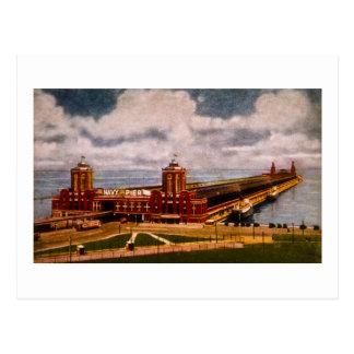 Embarcadero de la marina de guerra, Chicago, Illin Postales
