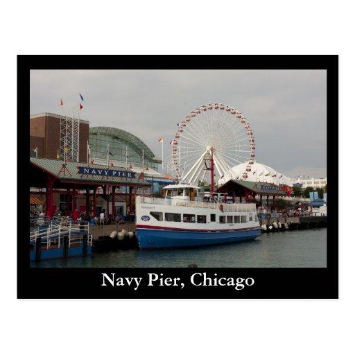 Embarcadero de la marina de guerra, Chicago Tarjeta Postal