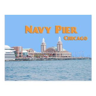 Embarcadero de la marina de guerra - Chicago Tarjetas Postales