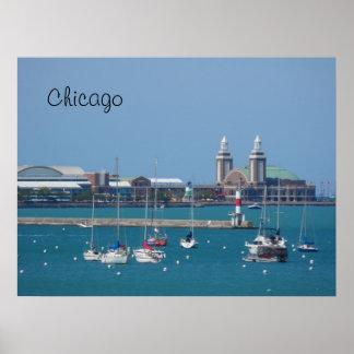 Embarcadero de la marina de guerra de Chicago Impresiones