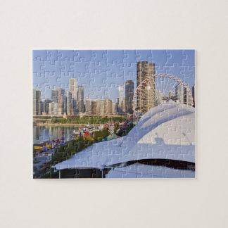 Embarcadero de la marina de guerra y Chicago céntr Puzzle
