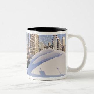 Embarcadero de la marina de guerra y Chicago céntr Taza De Café