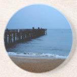 Embarcadero de la playa de Flagler Posavasos Manualidades
