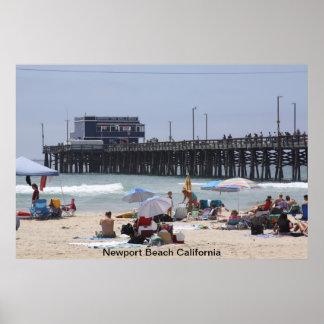 Embarcadero de la playa de Newport Posters