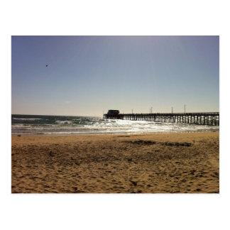 Embarcadero de la playa de Newport Tarjeta Postal