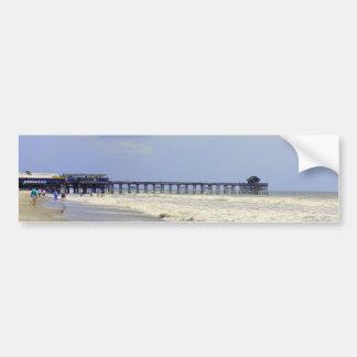 Embarcadero de la playa del cacao pegatina para auto