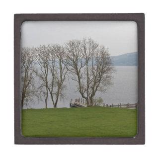 Embarcadero de Loch Ness y del barco cerca del Caja De Regalo De Calidad