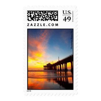 Embarcadero de Manhattan Beach Timbre Postal