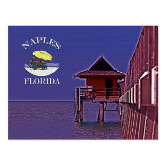 Embarcadero de Nápoles en azules Tarjetas Postales