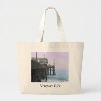 Embarcadero de Newport - bolso teñido de la foto Bolsa Tela Grande