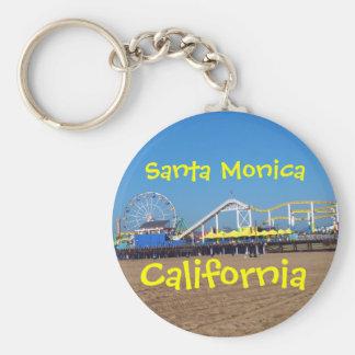 Embarcadero de Santa Mónica, California Llavero Redondo Tipo Pin