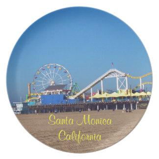 Embarcadero de Santa Mónica, California Plato De Comida