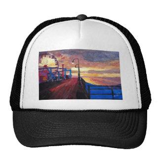 Embarcadero de Santa Mónica en el amanecer Gorro De Camionero