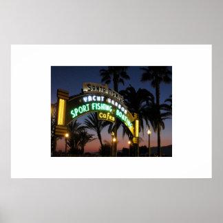Embarcadero de Santa Mónica en el poster de la pue
