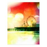 Embarcadero de Santa Mónica - estallando la foto d Tarjetas Postales