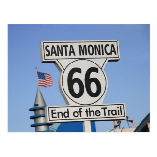 Embarcadero de Santa Mónica - extremo del rastro Tarjeta Postal