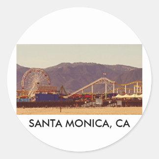 Embarcadero de Santa Mónica - hoja del pegatina