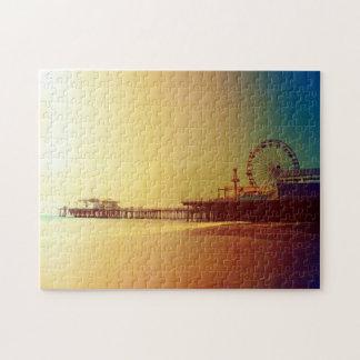 Embarcadero de Santa Mónica - la foto anaranjada Puzzle
