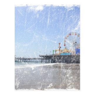 Embarcadero de Santa Mónica - la foto elegante lam Tarjetas Postales