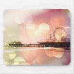 Embarcadero de Santa Mónica - la foto rosada chisp Tapete De Raton