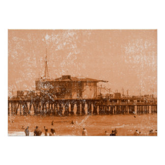 Embarcadero de Santa Mónica Poster