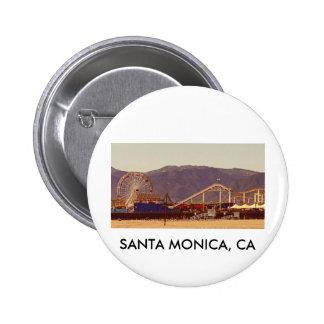 Embarcadero de Santa Mónica - Pin Pin Redondo 5 Cm