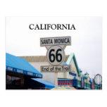 EMBARCADERO de SANTA MÓNICA, postal de CALIFORNIA