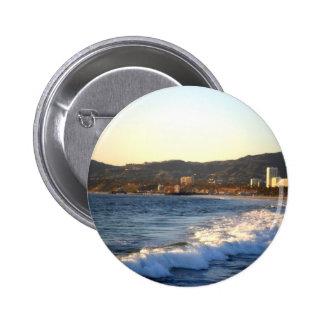 Embarcadero de Santa Mónica según lo visto de la p Pin Redondo 5 Cm
