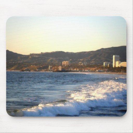 Embarcadero de Santa Mónica según lo visto de la p Tapete De Ratones