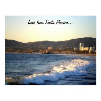 Embarcadero de Santa Mónica según lo visto de la p Tarjetas Postales