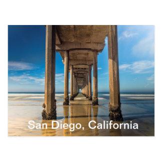 Embarcadero de Scripps en San Diego, California Postal